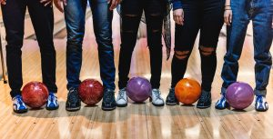 bowling balls and feet