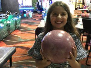 girl bowling