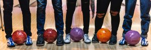 Teenagers Bowling Legs